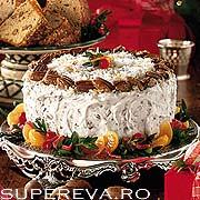 Tort cu portocale si crema de branza