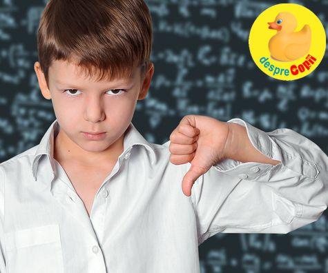 Cand copilul uraste scoala: motive, intrebari si cum reactionam
