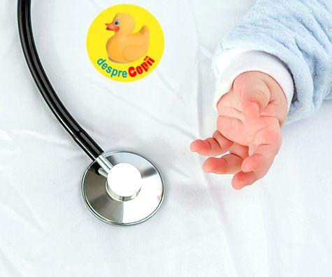 Bebelusul e bolnavior: 10 motive ca sa suni de urgenta medicul pediatru