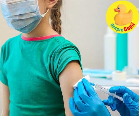 Vaccinul anti-COVID pentru copiii din grupa de vârstă 12 - 15 ani este in curs de aprobare