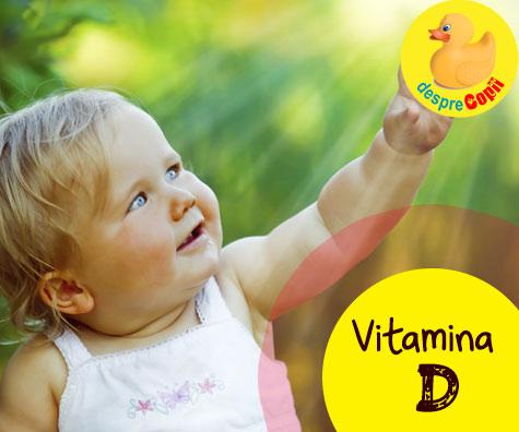Vitamina D la bebelusi, un supliment necesar: recomandarile pediatrilor
