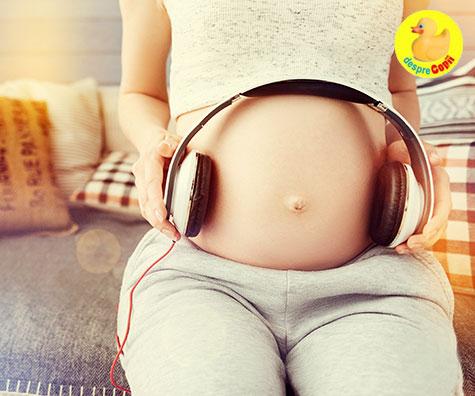 Vorbeste cu burtica ta: bebe te aude si invata!
