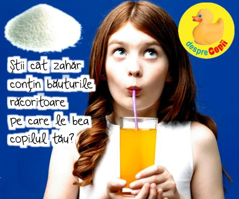 Stii cat zahar contin bauturile racoritoare pe care le bea copilul tau?