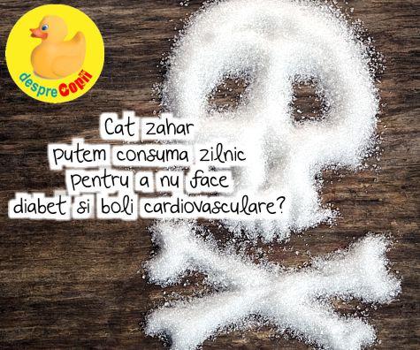 Cat zahar putem consuma zilnic pentru a nu face diabet si boli cardiovasculare?