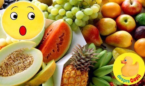 Este zaharul din fructe daunator sau benefic?
