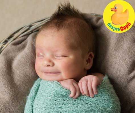 De ce zambeste bebelusului in somn - sau dialogurile in somn cu ingerii. Iata care este semnificatia.