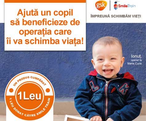 Campania Zambetele schimba vieti - pentru copiii cu despicatura de buza si palat