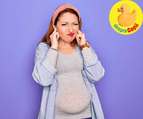 Mami e prea tare! Zgomotele puternice pot deteriora auzul fatului din burtica si il streseaza