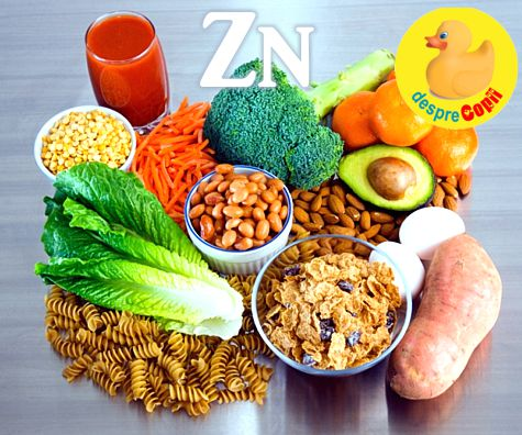 Zincul in alimentatie: importanta, surse si dozare