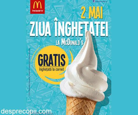 Maine sarbatorim Ziua Inghetatei la McDonald's